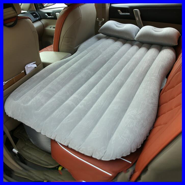 PVC material flocking fabric Inflatable Car Air Bed Car Airbed with Electric Air Pump Inflatable Air Mattress car sleeping bed