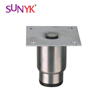 201 stainless steel adjustable foot with square plate