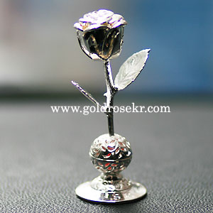 Silver Rose Small Size Car Aroma and Home Aroma Decorative With Gift Case