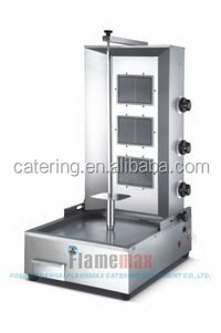 3 burners commercial gas kebab machine