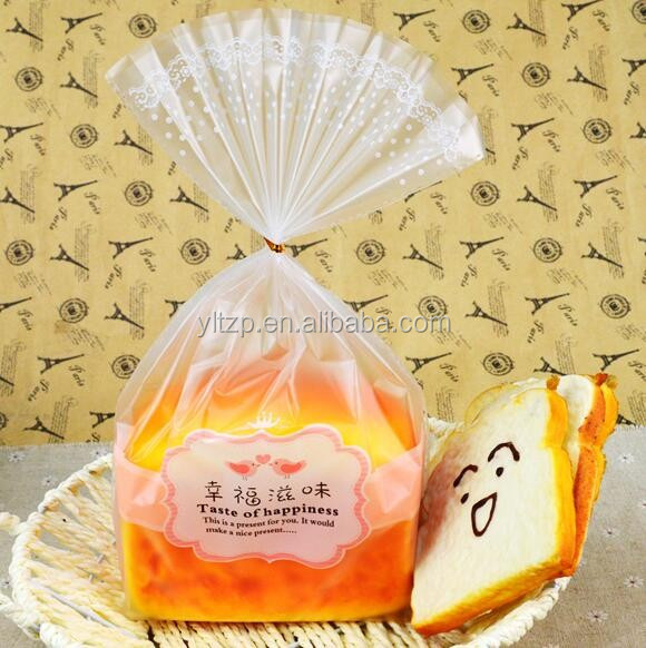 food packaging custom printed clear plastic bread bags from china supplier
