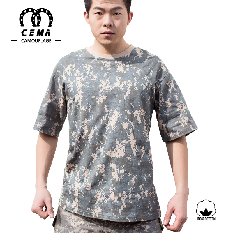 Adults comfortable breathable camo printing uniform army t-shirt