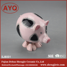 2017 Hot sale Pink Pig Shaped Porcelain Ceramic Decorations For Children Room