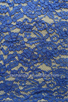 2013 New design wedding dresses fabric blue corded french lace fabric