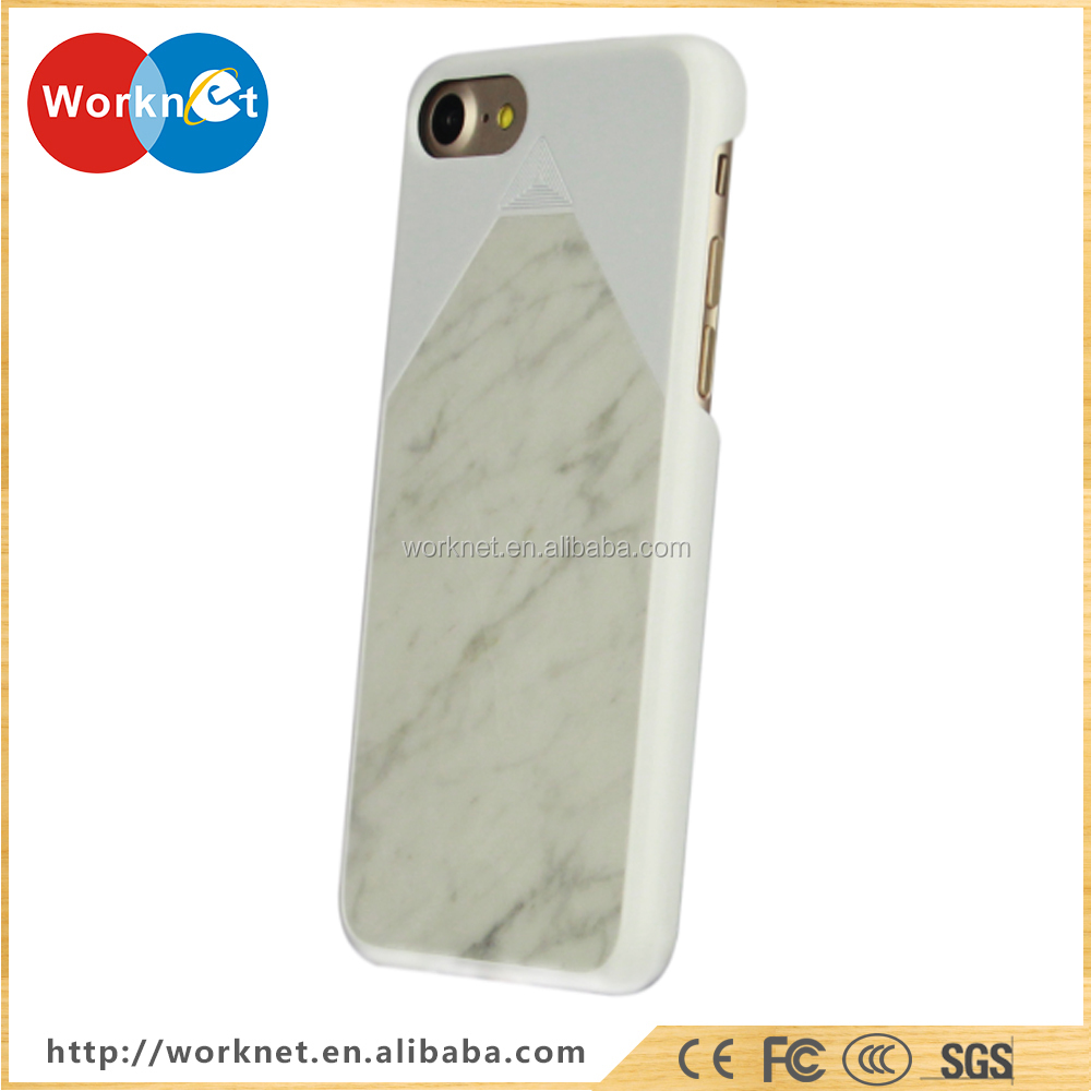 New cell phone cover for iphone 7 marble case, 100% real natural marble stone phone case cover for iphone 7 case