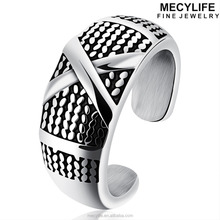 MECYLIFE Men's Vintage Adjusted Stainless Steel Open Ring