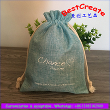 Hot selling linen jute hanging promotional scented sachet aroma bag with custom logo
