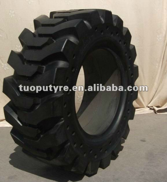 skid steer flat proof tire 31x10x16 33x12x20, puncture proof babcat solid tire