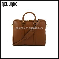 Brown Compact Stylish for Business Men Leather Briefcase