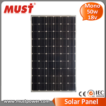 Wholesale price high efficiency fire test approved mono solar panel 50w
