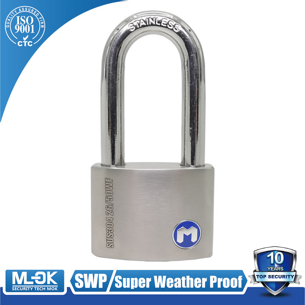 MOK@26/50WF Super Hot sale Anti-cut Anti-theft high quality padlock,rain ,sunlight ,sunshine proof