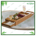 Home bathroom bamboo shower caddy