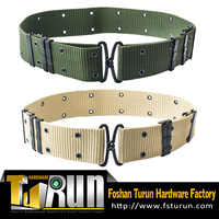 Factory High Quality Custom Military Belt with metal buckle