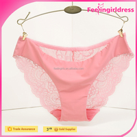 Hot Sale Underwear Sexy Pink Perfect Pattern In Stock Sex Women Under Panty