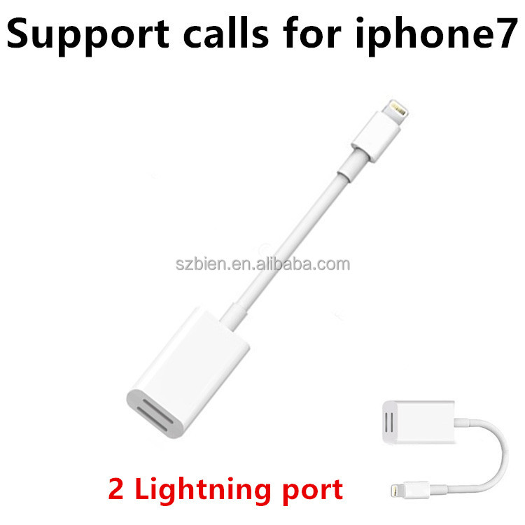 Earphone/Headphone Cable Adapter For iPhone 7&iPhone7 Plus/ISO Interface can make calls