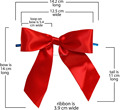 Bakery Packaging Small Order Pre-made Satin Ribbon bow with twist