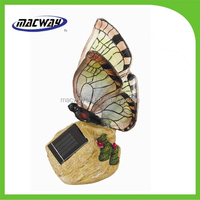 solar power rechargable butterfly garden decorative lights
