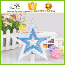 gold metal modern star christmas tree toppers