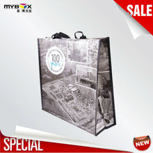 100% cotton canvas Promotional shopping bag laminated pp woven bag