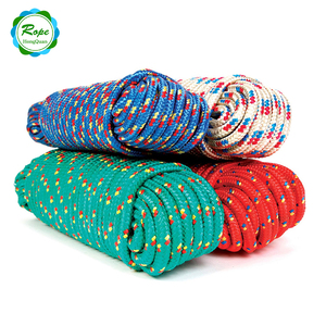 China Wholesale Suppliers Colorful 16mm Diamond Braid Polypropylene Rope