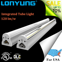 high quality super bright 30w led hanging lamp t8 led tube integrated led lights