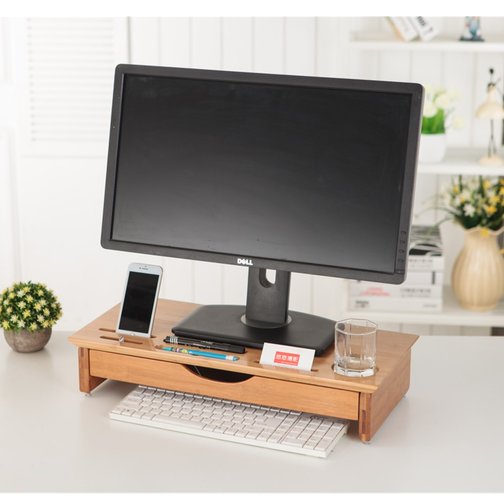 Coyitech new arrive CC-09 monitor desktop organizer support mount luxury gift wood