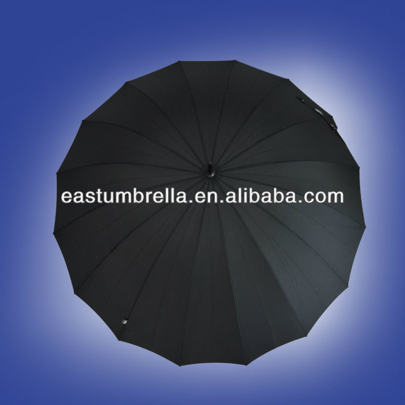 More fashion purple 16ribs straight umbrellas for rain and windproof