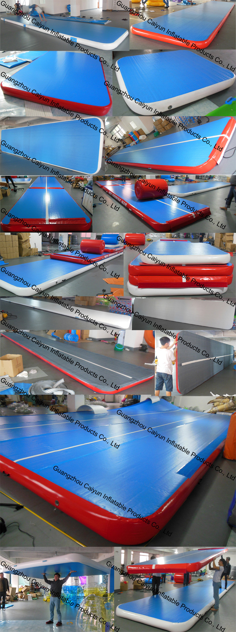Gymnastics inflatable air track landing floor for gym/inflatable air track for sale
