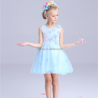 2016 New style Europe and America girl summer fashion princess high quality flower girls dress