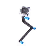 CNC Aluminum Arms and Screw for Gopro HD Hero 4 3+/3/2/1, Black/ Blue/ Green/ Golden/ Red/ Purple/ Pink/ Silver GP45