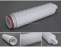 Factory directly supplied Sterile Grade Hydrophobic PTFE 0.2 Micron Membrane Pleated Air Filter Cartridge