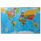 Custom Design Eco-friendly Waterproof Anti-tear Wallpaper Globe Travel Tyvek World Map
