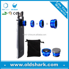 2016 New Arrival Mobile Phone Camera Lens Fisheye Lens , 3 in 1 Zoom Lens for Mobile Phone Alibaba Gold Member 4 Years