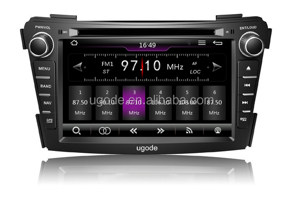 ugode U7 hot sale double din car dvd gps naviation system for Hyundai i40