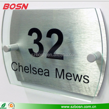 House Sign Name Plaques Acrylic Number Door Sign