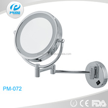 PRIME Round wall mounted cosmetic light up mirror for shaving