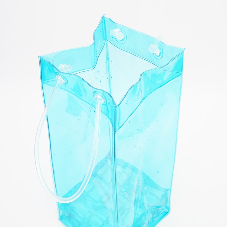 Promotional Cooler Bag Cheap plastic Wine,Beer Ice Bag For Dinner Party