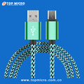 Wholesale 1M 3M Custom Braided Jacket for iPhone Micro Android Type-C USB 2.0 Data Cable