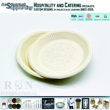 Custom logo printed eco-friendly 8 inch disposable kids birthday party plates