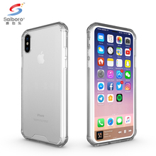 Anti-scratch acrylic pc hybrid cover for iphonex transparent cover for iphone x10 case crystal clear