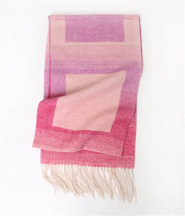 fashionable scarf soft warm lambs wool long tassel jacquard modern scarf shawl