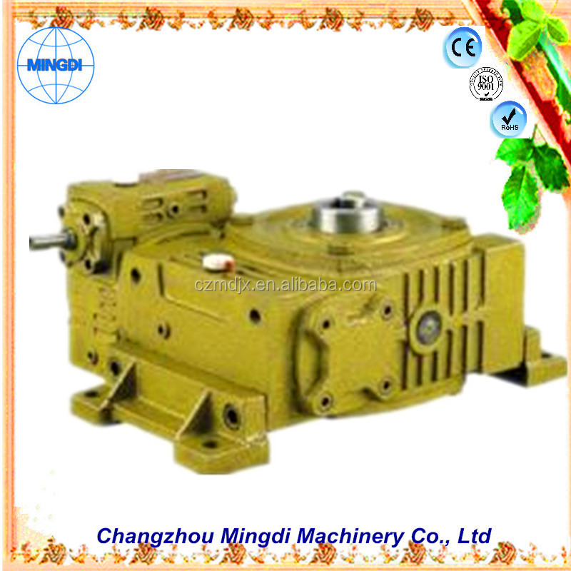 changzhou machinery WPO/WP Cast Iron small Worm Transmission Gearbox Parts with diesel engines aluminium pannier box