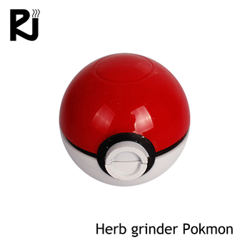 hair electronic product pokemon 3 layer plastic herb grinder logo printed