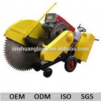 1000mm blade diesel electric asphalt road cutter with cranking handles