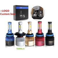 Auto lighting system S2 COB ZES CSP 9005 9006 H4 Led Headlight Bulb, 9012 H13 H11 Kit Car Lights H7 H4 Led Headlight