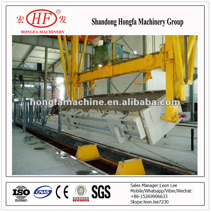 Machinery and equipment Autoclaved Aerated Concrete for processing and manufacturing light weight brick