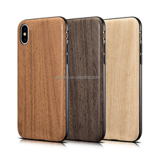High Quality Wood Cover PU Back Case For iPhone X, For iPhone X Wooden Leather Case