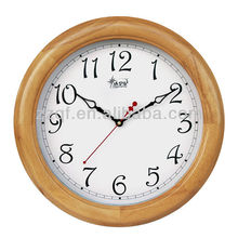 Simple nature wood flip wall clock