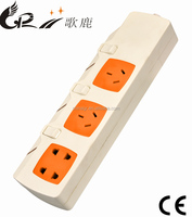 Chinese standard portable 13a switch electric socket outlet with LED indicator