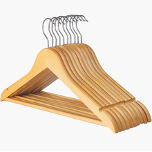 ZARA Brand clothing store used cheap factory man suit wooden hanger with non slip rod
